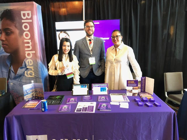 NYU CCS representatives at the Women in Cybersecurity conference